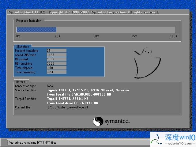 深度技术 Ghost Win10 64位 纯净版 v2018.11